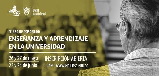 Convocan a participar del curso de posgrado sobre Enseñanza y aprendizaje en la Universidad