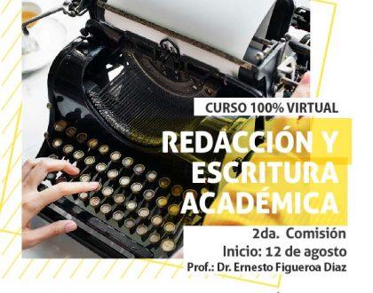 """Inscriben al curso virtual """"Redacción y escritura académica"""""""