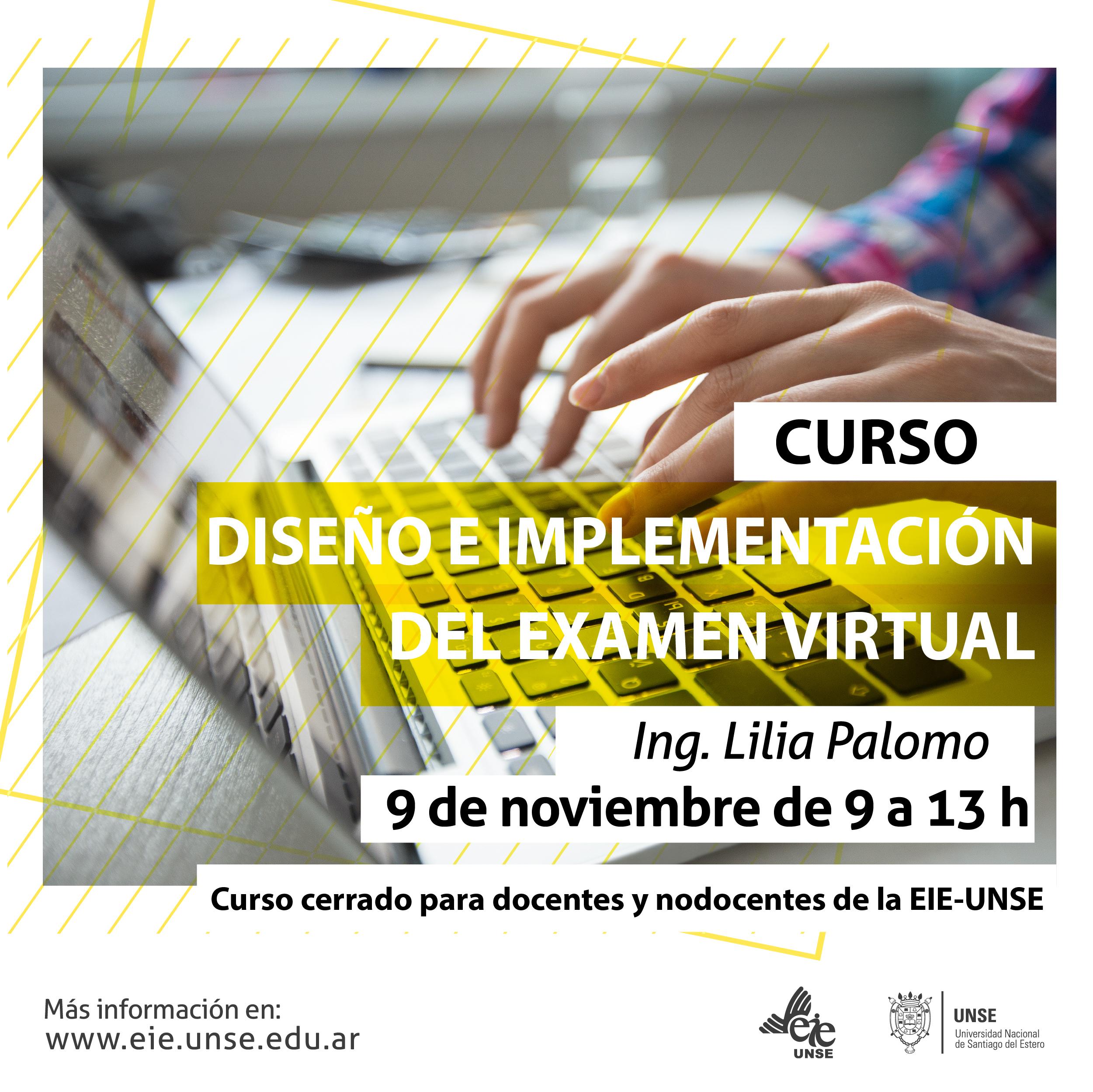 "Inscribite al curso ""Diseño e implementación del examen virtual"""