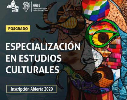 Inscripción abierta a la Especialización en Estudios Culturales