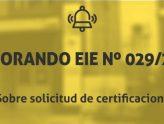 Información sobre la solicitud de certificaciones