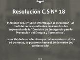 Resolución C.S Nº 18