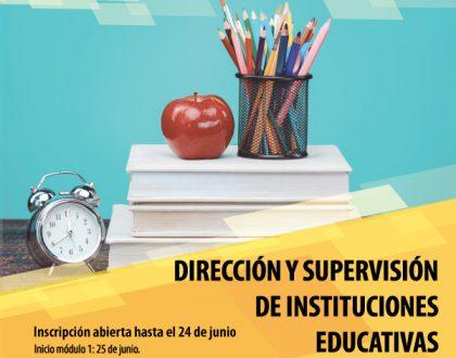 DIPLOMATURA SUPERIOR EN DIRECCIÓN Y SUPERVISIÓN DE INSTITUCIONES EDUCATIVAS