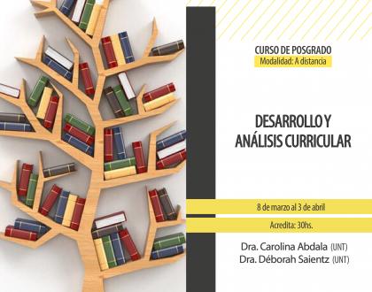 """Curso de posgrado """"Desarrollo y Análisis Curricular"""""""
