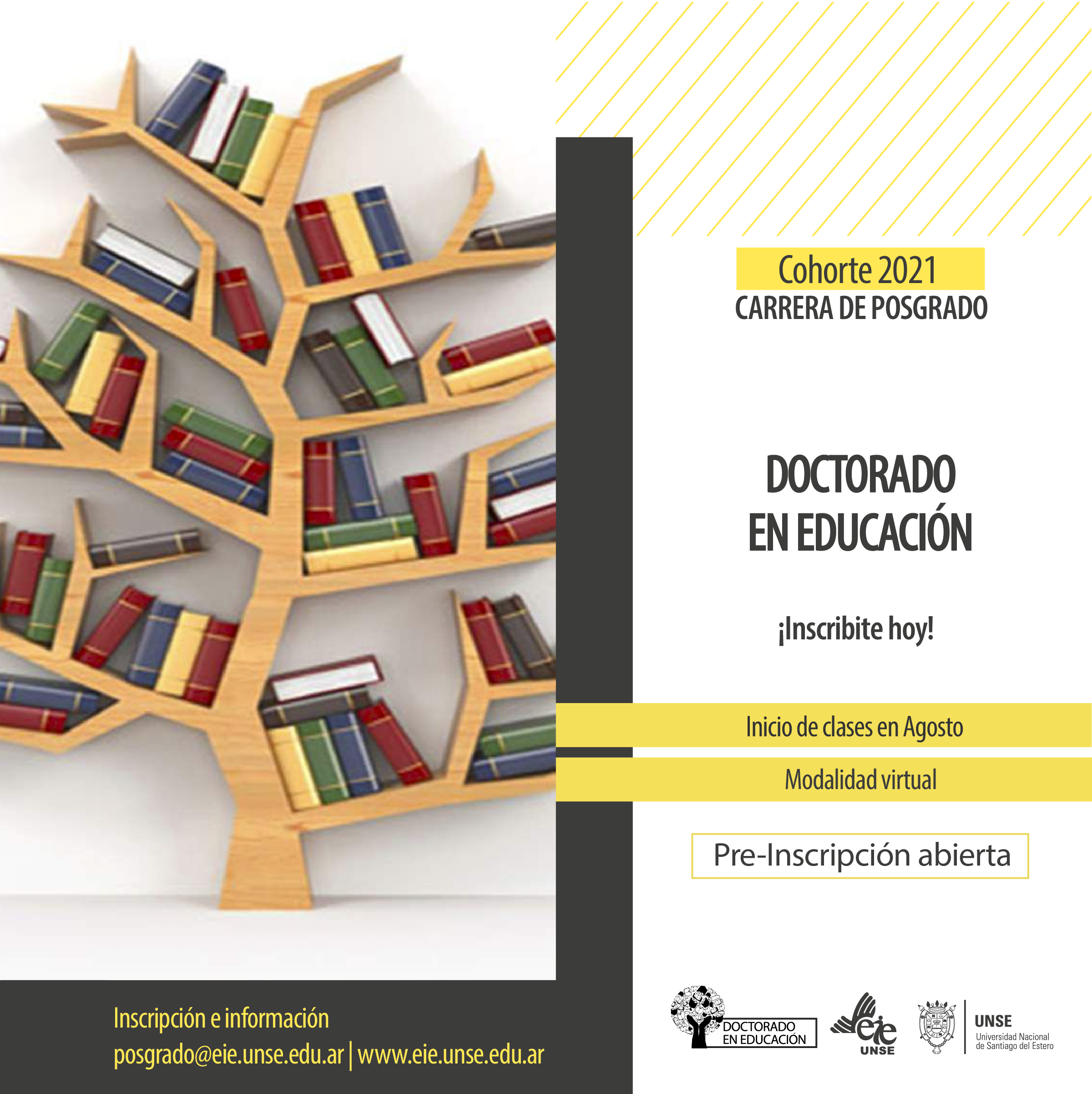 Pre-inscripción abierta al Doctorado en Educación - Cohorte 2021