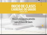 CRONOGRAMA DE INICIO DE CLASES DE LAS CARRERAS DE GRADO - COHORTE 2021